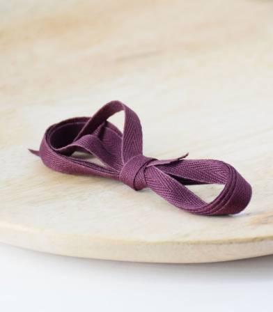 Ruban sergé aubergine - 6mm