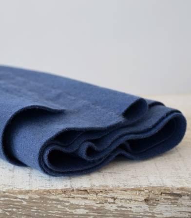 Tissu lainage poilu - Bleuet