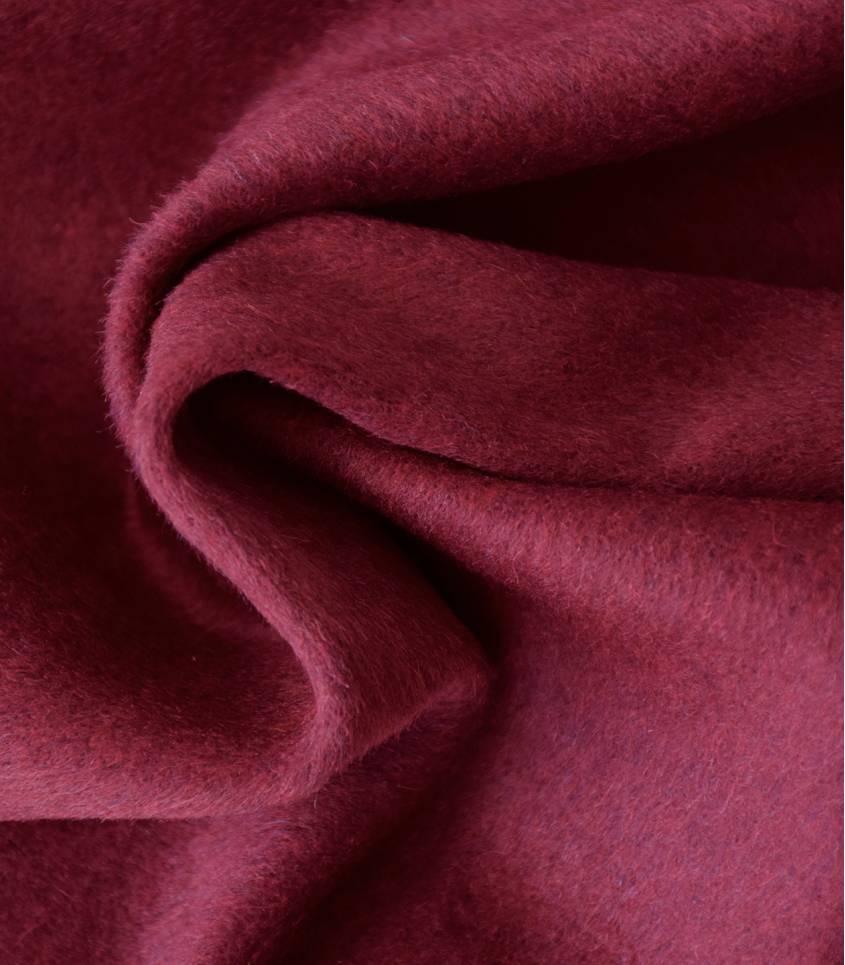 Tissu lainage poilu - Bordeaux