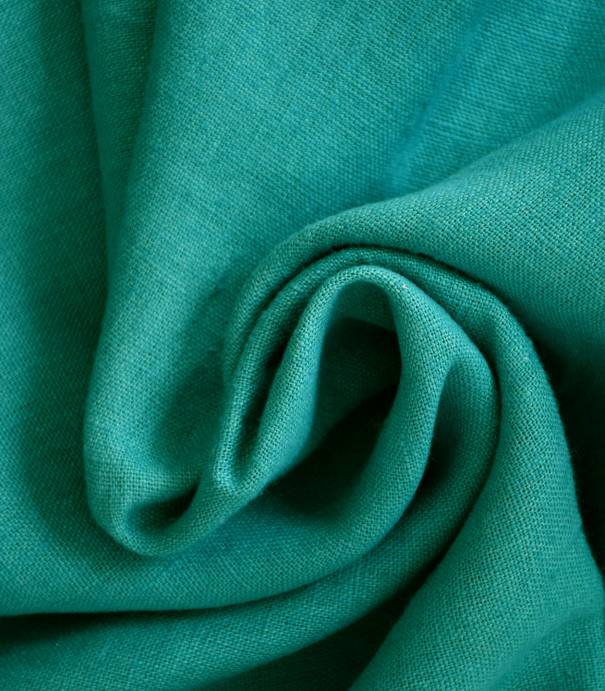 Tissu lin lavé turquoise