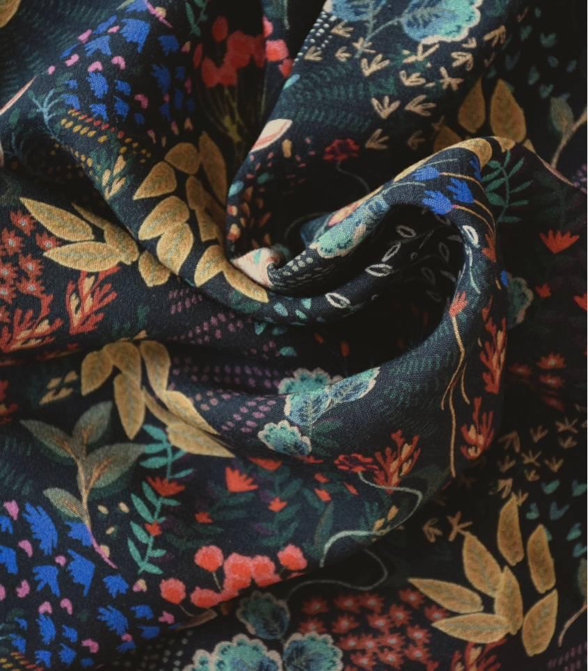 Tissu crêpe viscose - Mille fleurs