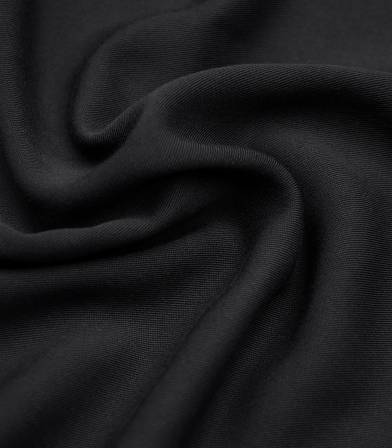 Twill viscose black