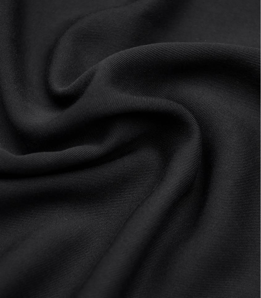 Twill viscose black