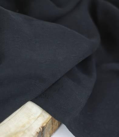 Tissu tencel Jacquard Jardin Floral - Onyx
