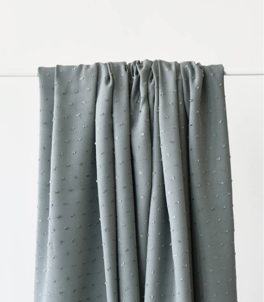 Tissu viscose Plumetis- Vert de gris