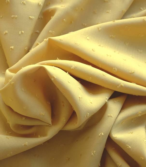Tissu viscose Plumetis- Ocre jaune