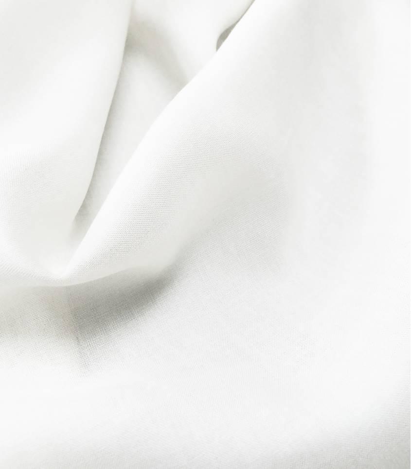 Viscose soyeuse blanche