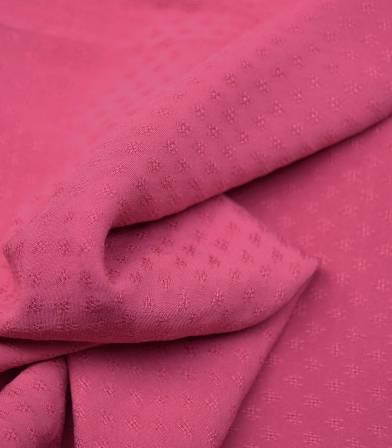 Tissu viscose PUNTITO - Framboise