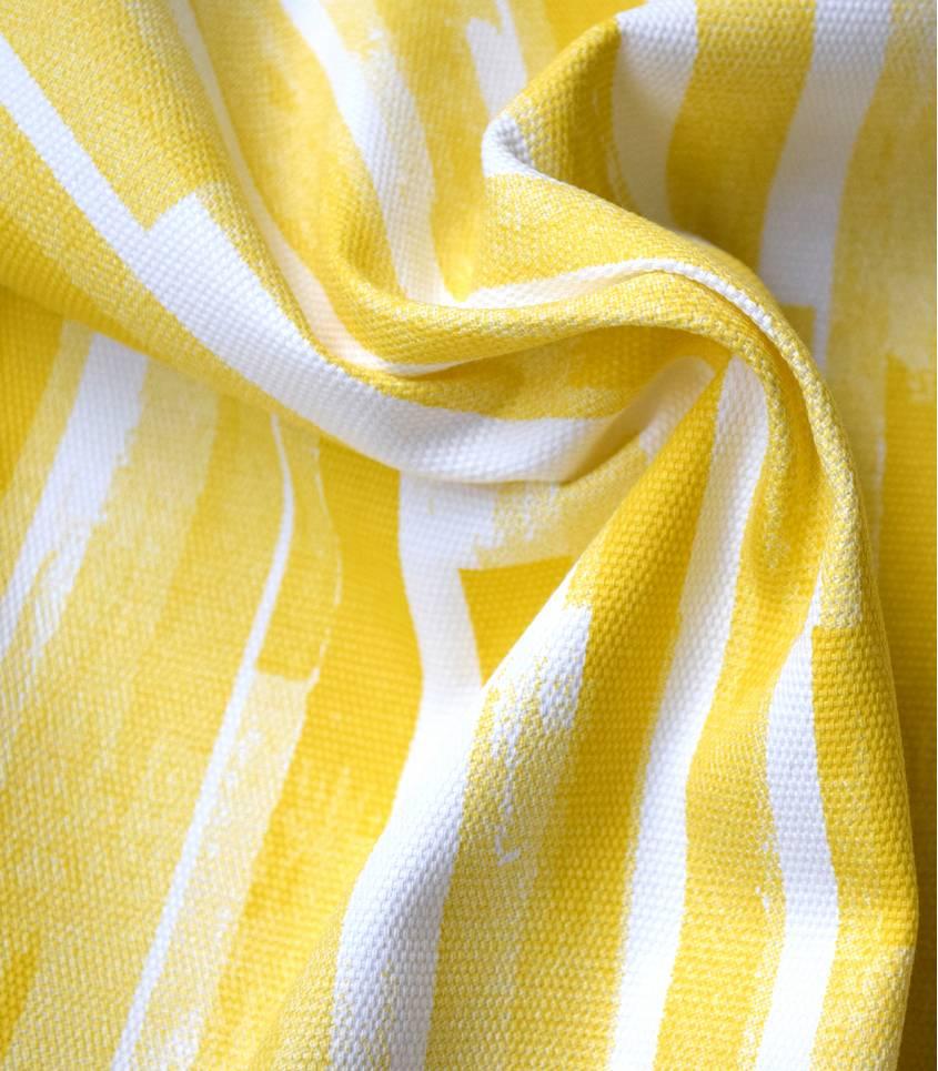 Tissu canvas yellow stripes  - Rico Design