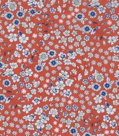 Tissu fleuri Froufrou- Rouge