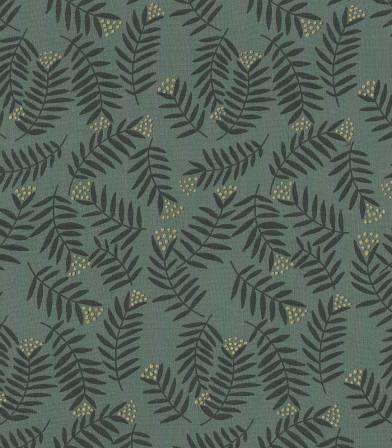 Tissu viscose Rameaux  - smoke green