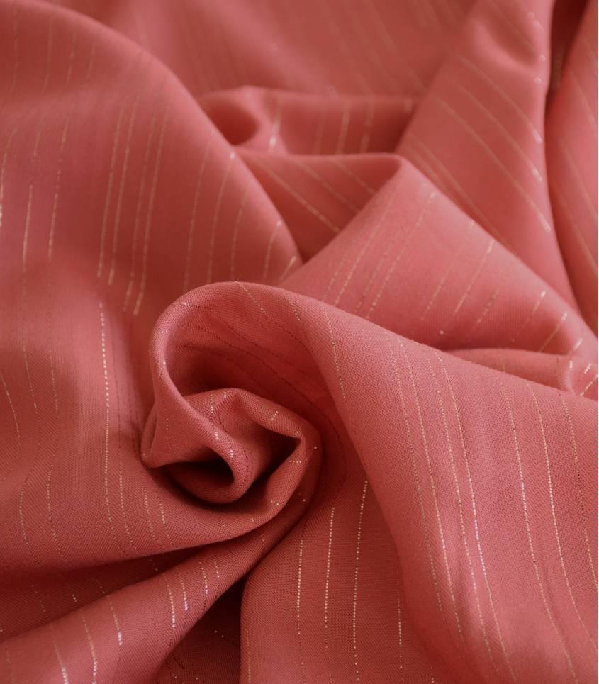 Tissu viscose Rayures cuivre - Melba