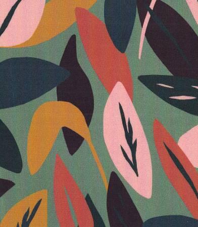 Tissu viscose Sous bois - lichen