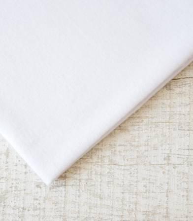 Tissu flanelle de coton blanche