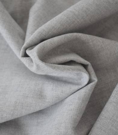 Tissu flanelle de coton gris chiné
