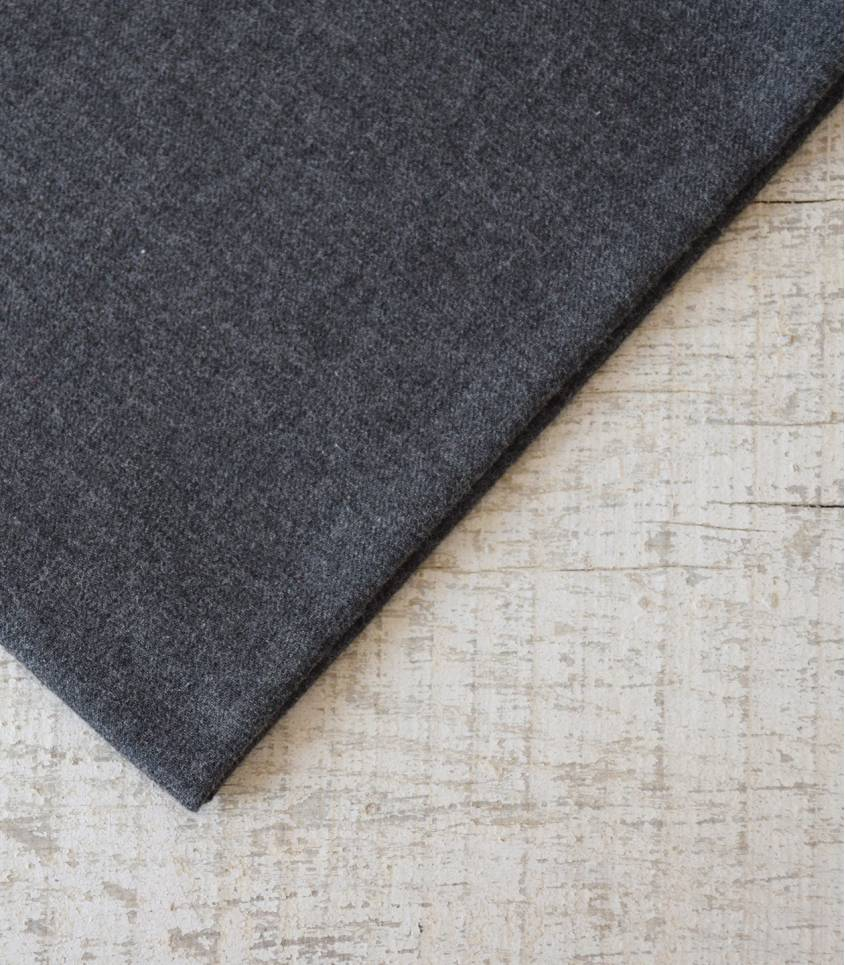 Tissu flanelle de coton gris foncé