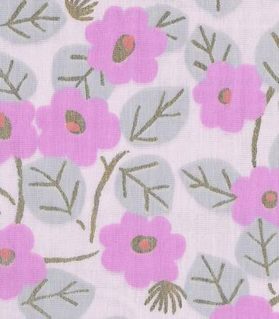 Tissu double gaze  Sakura Rose Rico Design