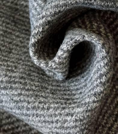 Tissu Lainage rayures chinées