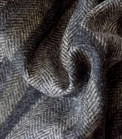 Tissu chevron rayé