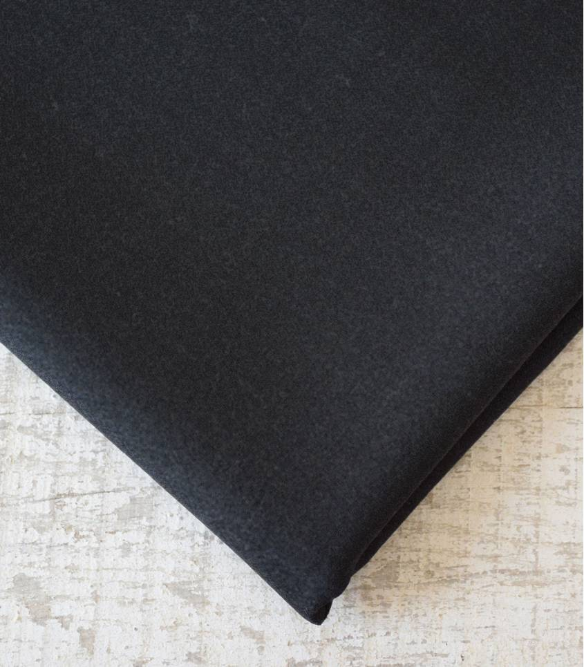 Crêpe de laine charcoal