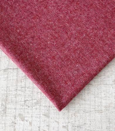 Tissu lainage Petits chevrons Cabernet