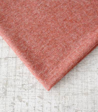 Tissu lainage Petits chevrons Rouille