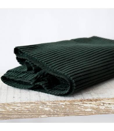 Tissu velours grosses côtes - vert sapin