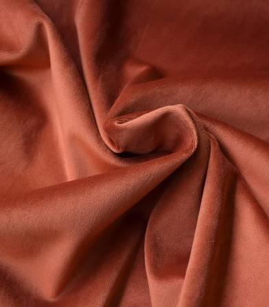 Tissu Jersey velours Cuivre