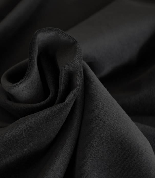 Tissu velours lisse noir