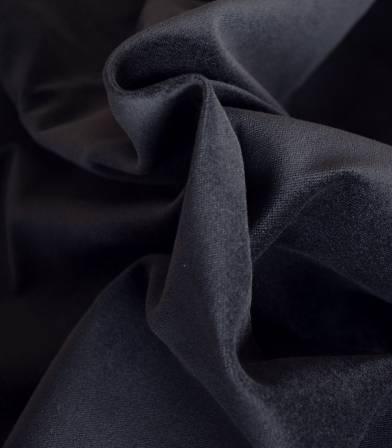 Tissu velours lisse marine