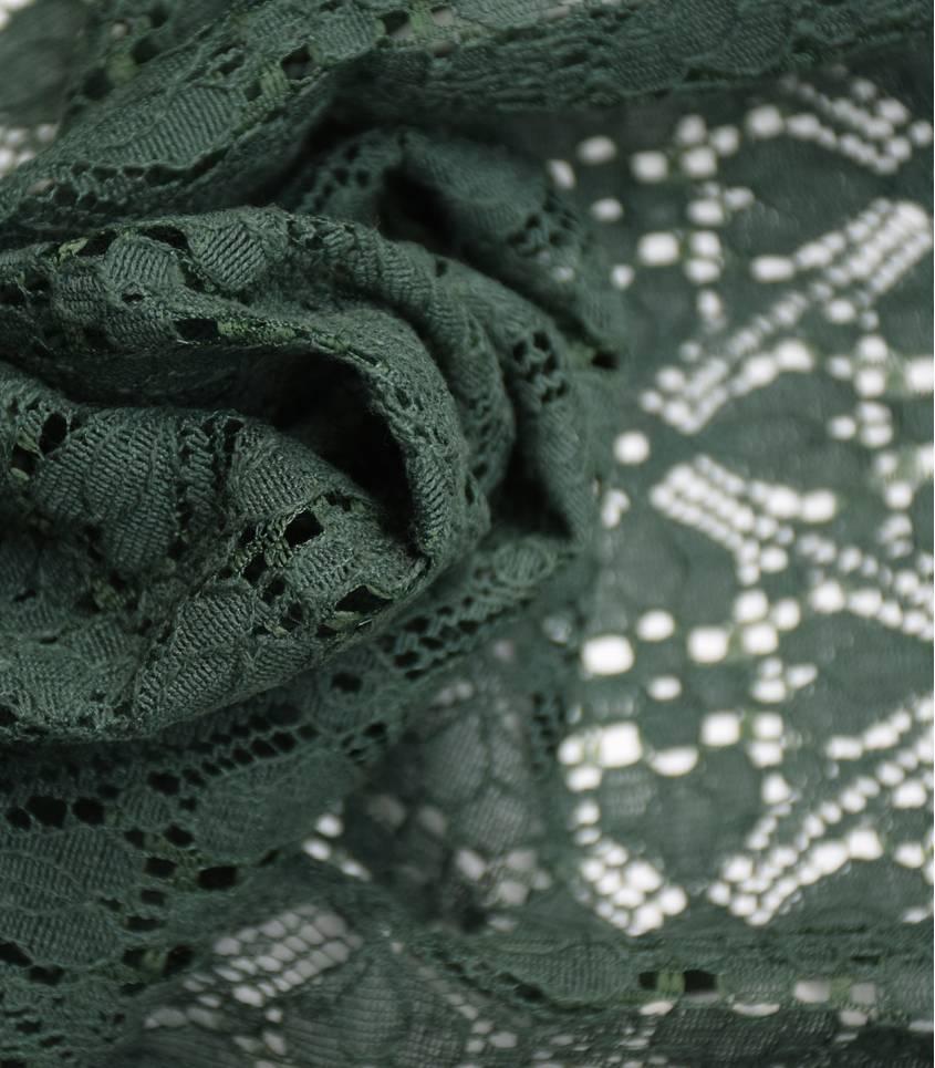 Dentelle Fleurie - Deep green