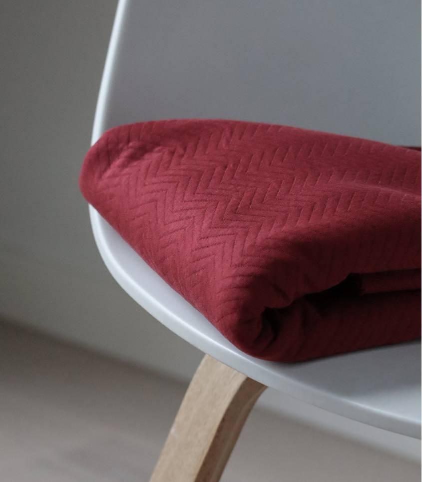 Tissu Jersey matelassé chevron - Red