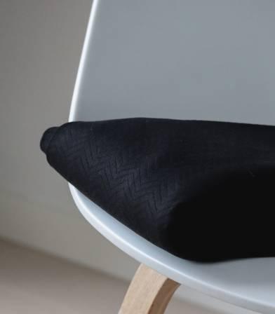 Tissu Jersey matelassé chevron - Black