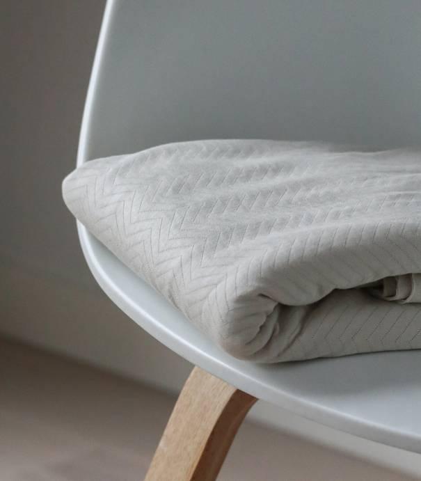 Tissu Jersey matelassé chevron - Mist