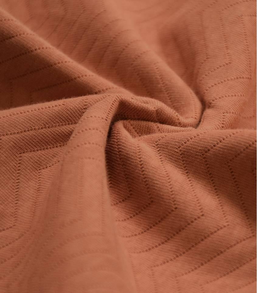 Tissu Jersey matelassé chevron - Rust