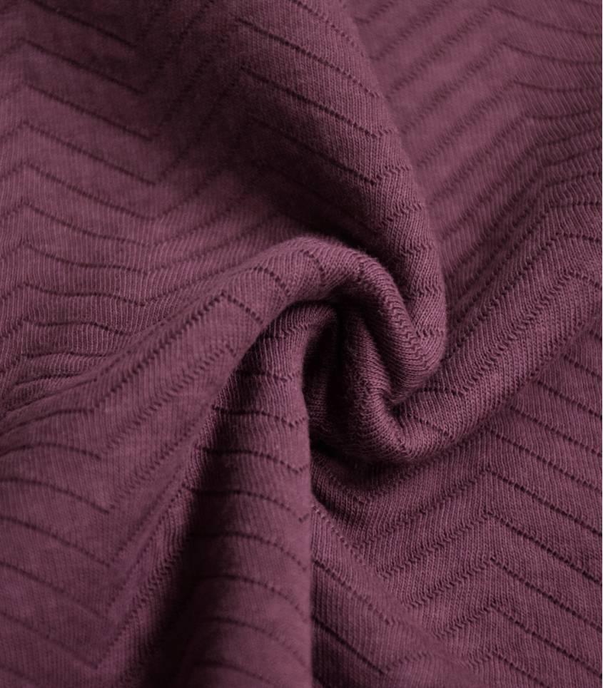 Tissu Jersey matelassé chevron - Bordeaux