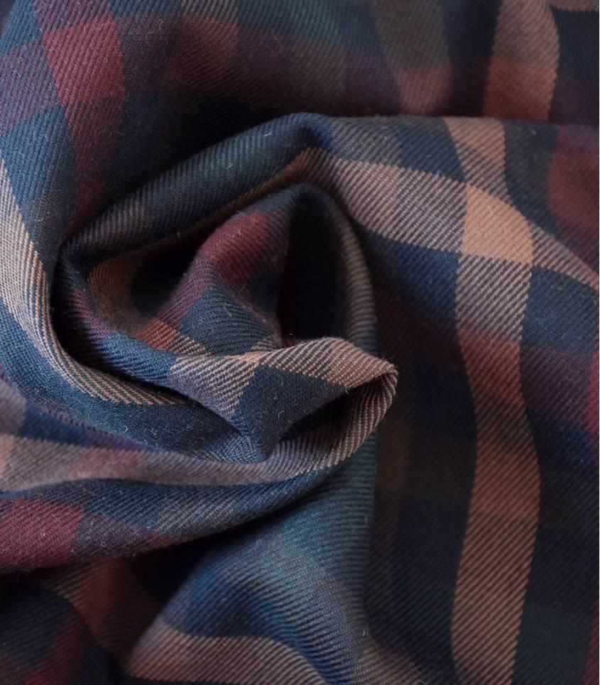 Tissu à grands carreaux - Sombre