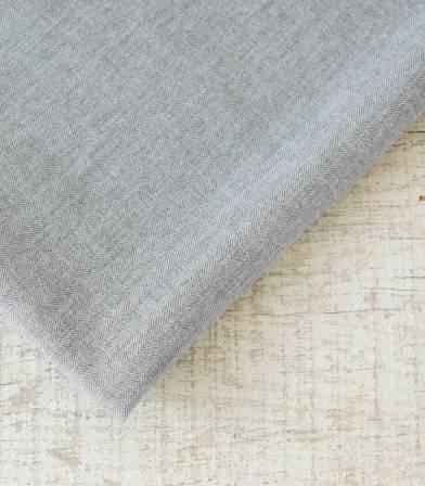 Tissu flanelle de coton Chevron Gris