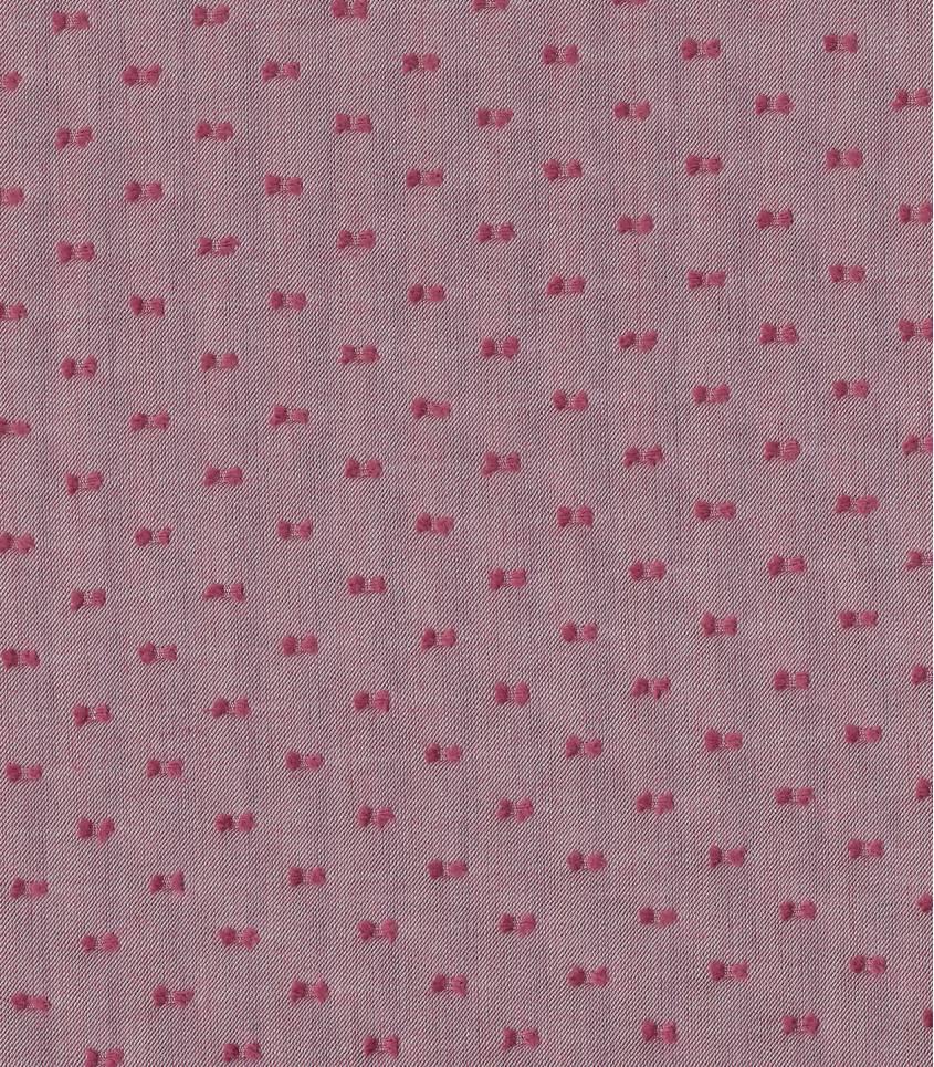Tissu chambray plumetis bicolore - Bordeaux