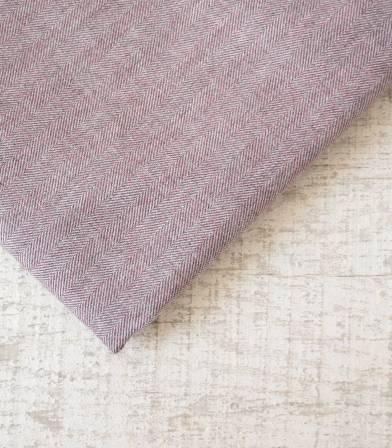 Tissu flanelle de coton Chevron Bordeaux