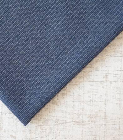 Tissu flanelle de coton Pied de puce Bleu