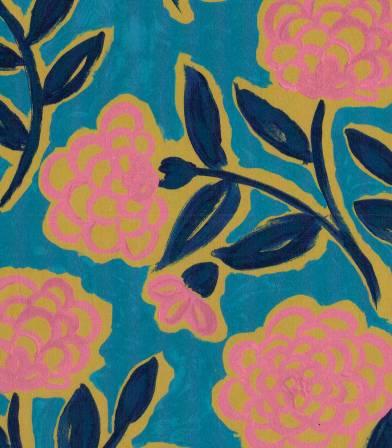 Tissu Liberty Frieze - Turquoise