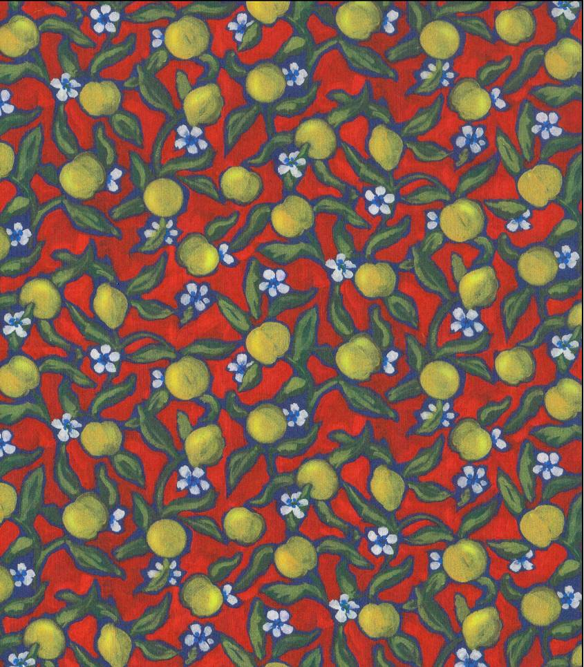 Tissu Liberty Lemon Grove- Vermillon