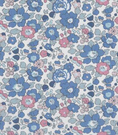 Tissu Liberty Betsy - Sweet blue