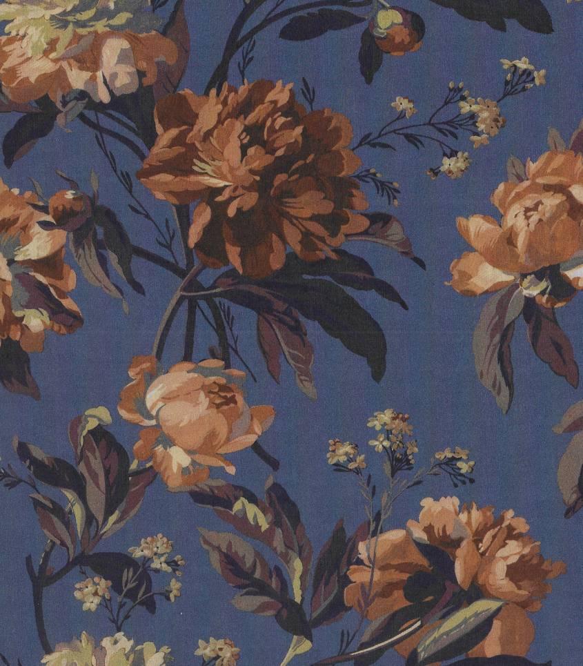 Tissu Liberty Decadent blooms - blue