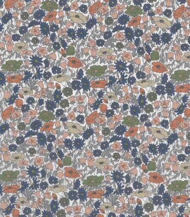 Tissu Liberty Poppy & Daisy forest Bronze