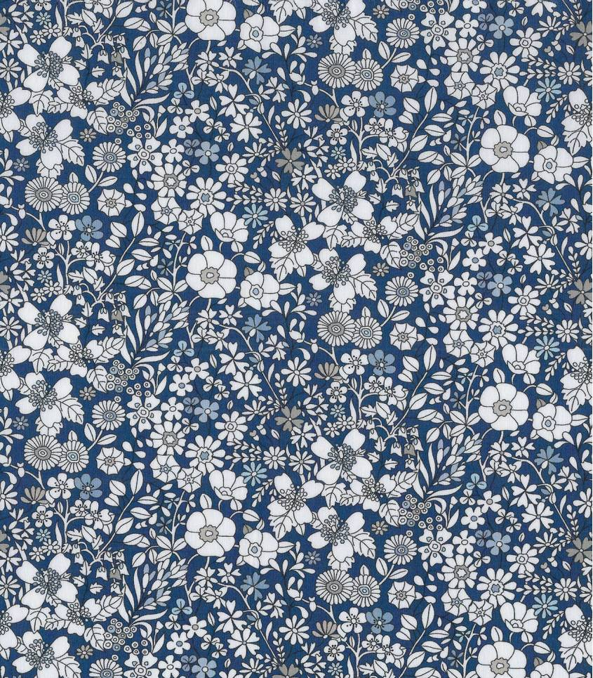 Tissu Liberty June's meadow navy