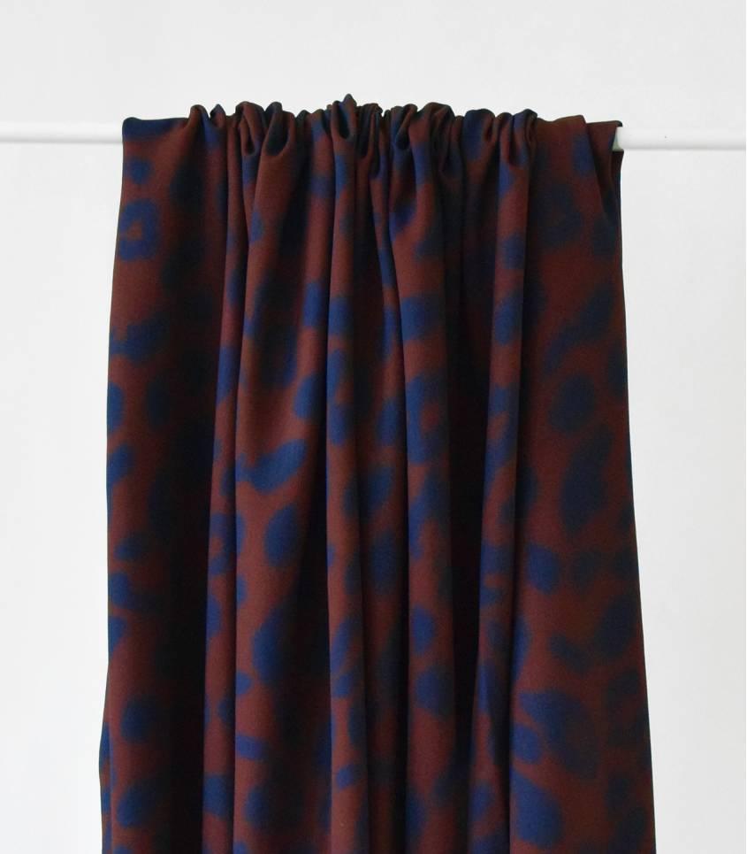 Tissu twill viscose - Urban Léo brown