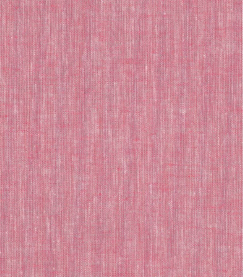 Tissu Lin/coton - rouge