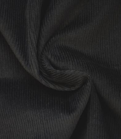 Tissu velours côtelé - Noir